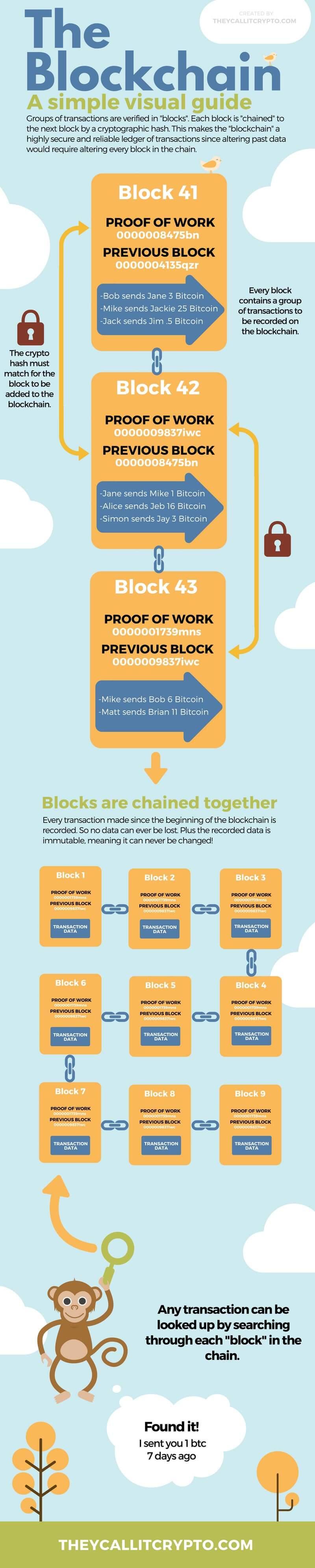 infographic explaining how the blockchain works