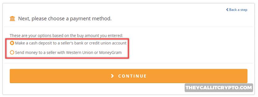 Bitquick buy bitcoin for under $300 screenshot