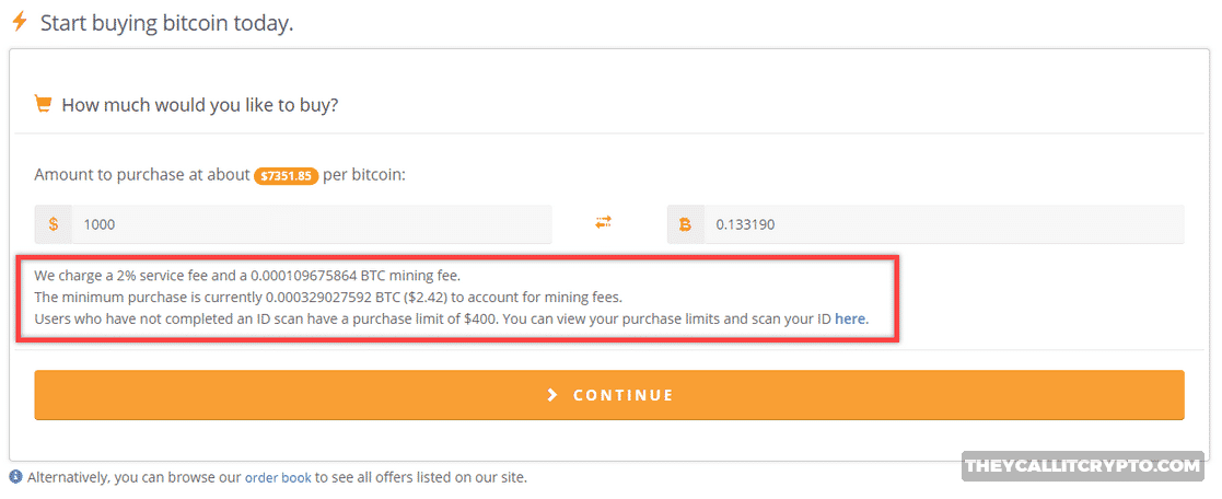 Buy Bitcoin on Bitquick screenshot
