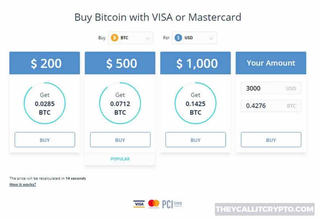 Coinmama buy with credit card screenshot