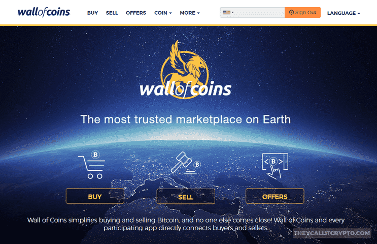 Wall of Coins Homepage