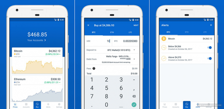 coinbase mobile app screenshot