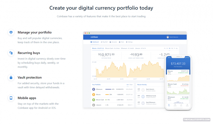 coinbase features