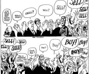 funny comic of irrational crypto market